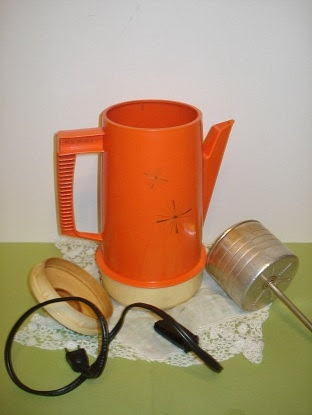 vintage coffee pot  .This is what we grew up with.
