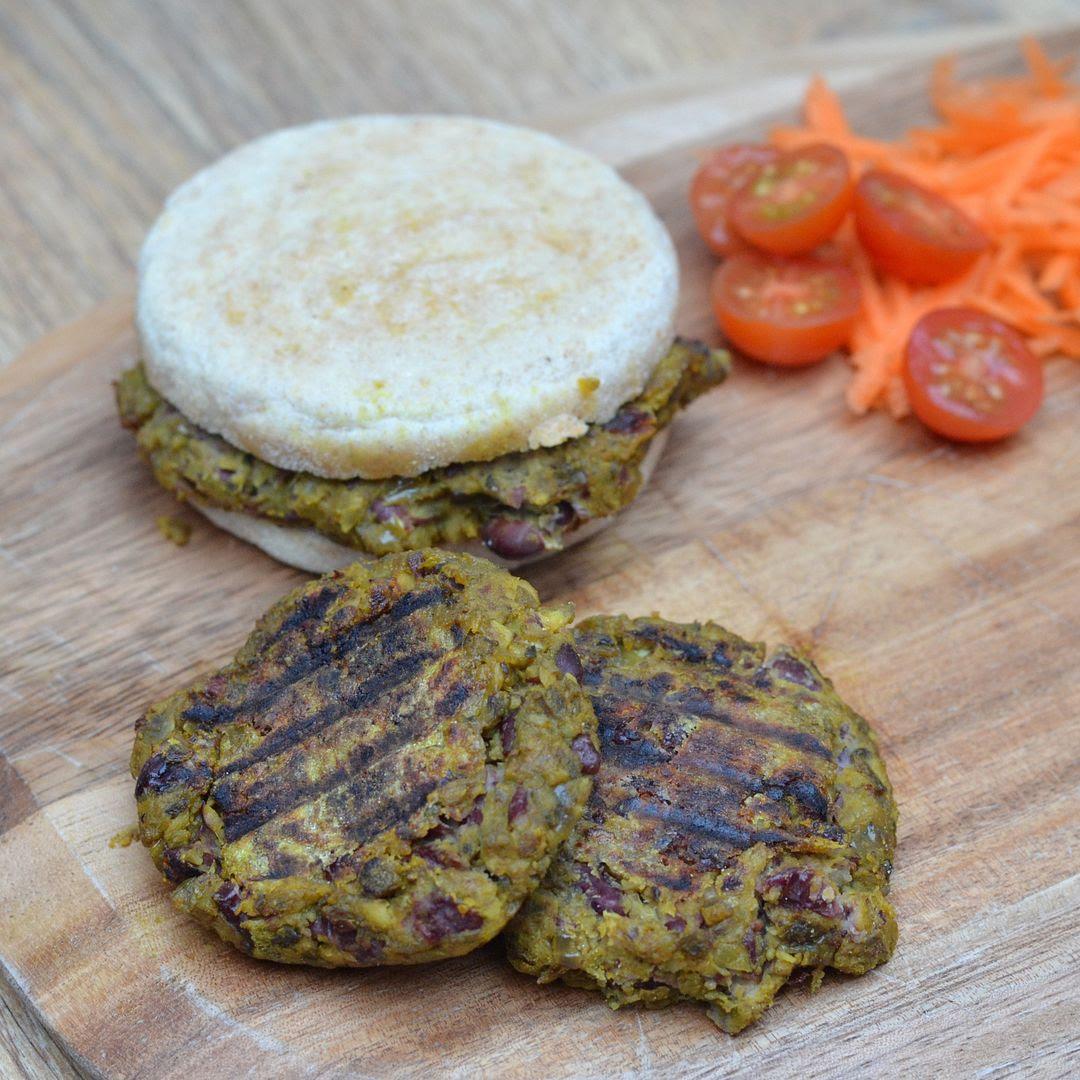 Red Bean & Mushroom Burgers