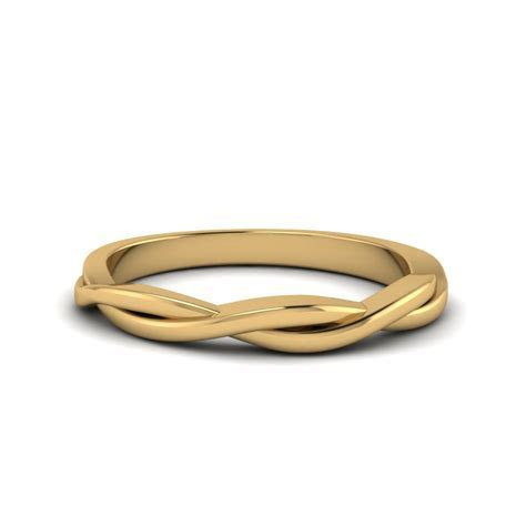 Twisted Vine Wedding Band In 18K Yellow Gold   Fascinating