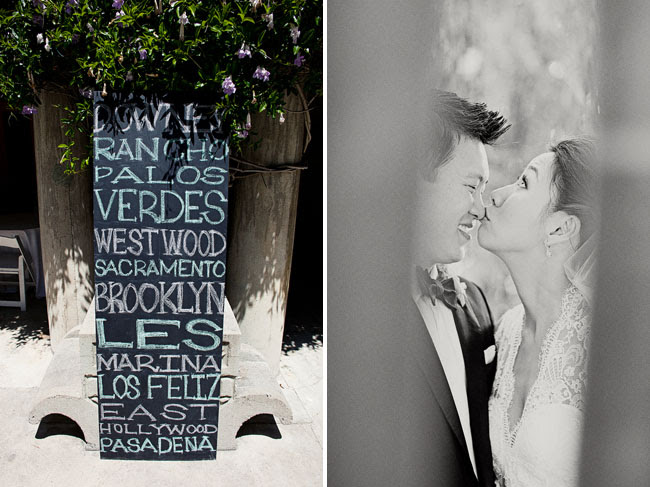 chalkboard writing wedding