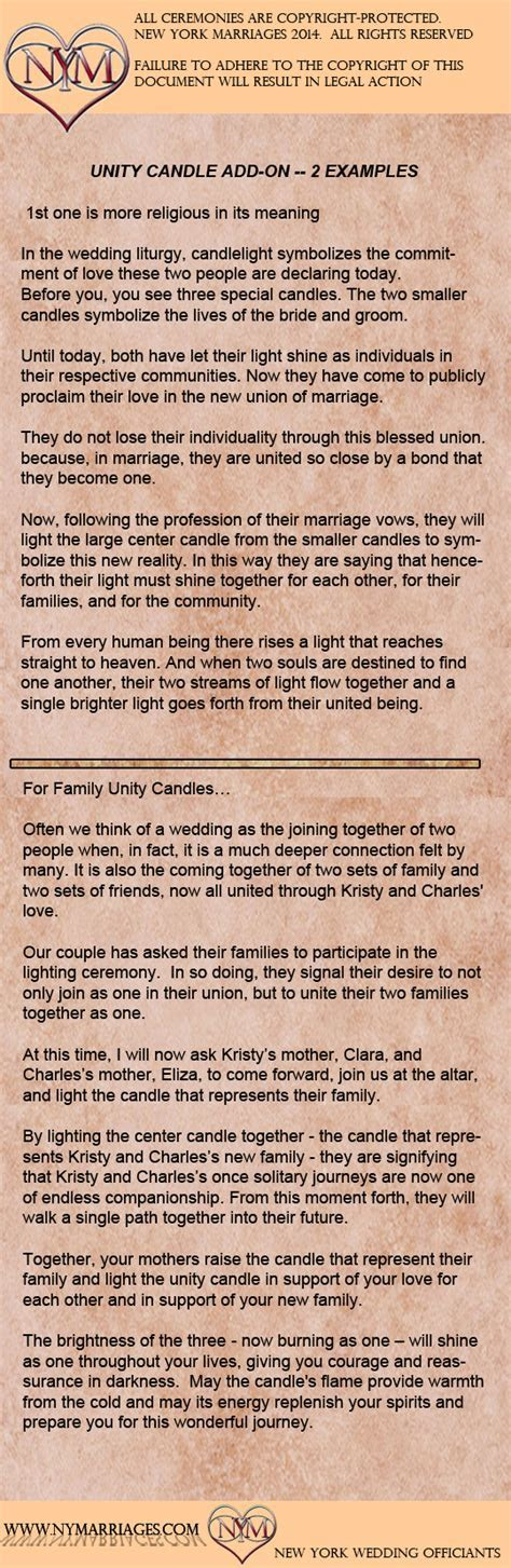 Sample Unity Candle Ceremony   Sample Wedding Ceremonies