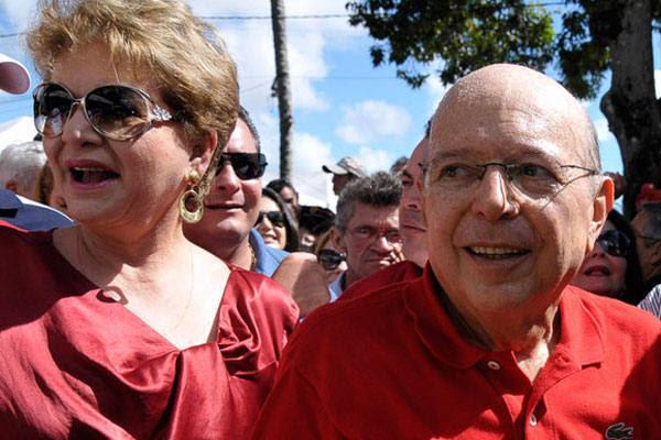 Iberê e Wilma chegaram juntos ao evento de lançamento da candidatura do governador