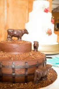 Cow wedding bull bull rider cake topper groom's cake
