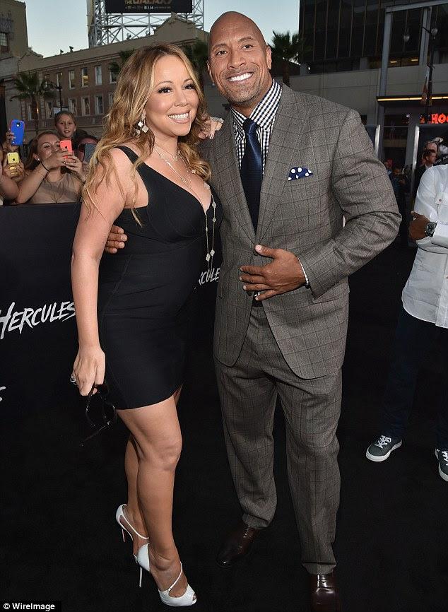 Snapshots: Mariah Carey attends 'Hercules' premiere...