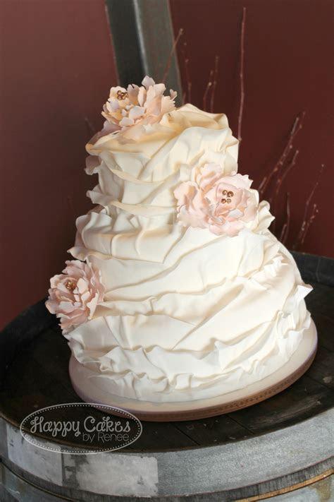 Ruffled Petal Cake   CakeCentral.com