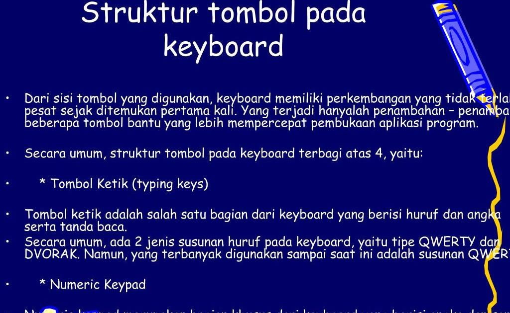 Yang Bukan Termasuk Struktur Tombol Pada Keyboard Adalah ...