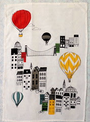Balloon-themed Tea Towel