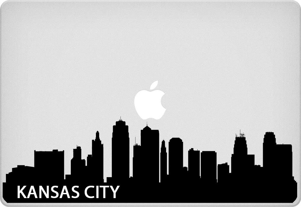 Amazon.com: Kansas City Skyline Macbook Sticker Kansas: Computers ...