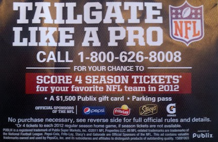 tailgate sweeps New Publix Sweepstakes   Tailgate Like A Pro