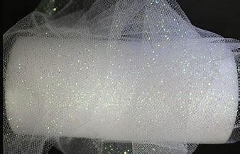 """Glitter tulle 6""""x25yds WHITE"""