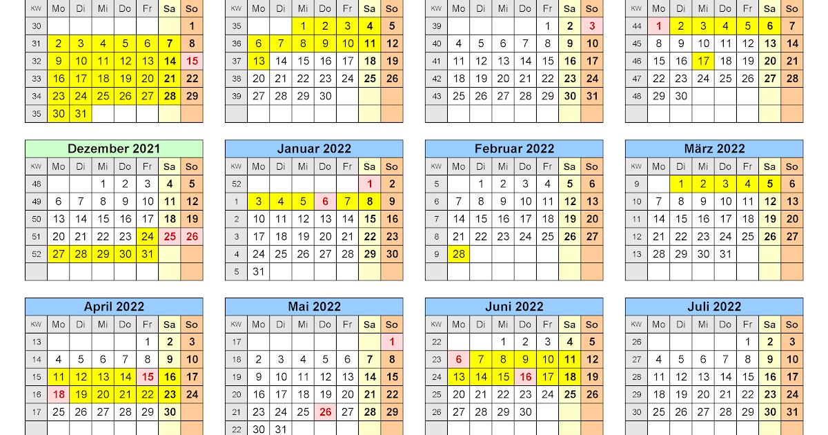 Kalenderpedia 2021 Bayern : Din A4 Kalender 2021 Zum ...