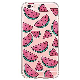 For Etui iPhone 6 / Etui iPhone 6 Plus Ultratynn / Gjennomsiktig Etui Bakdeksel Etui Frukt Myk TPU AppleiPhone 6s Plus/6 Plus / iPhone