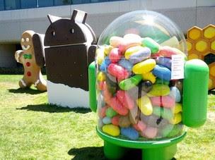 Android 4.1 colocado na sede do Google (Foto: Reprodução) (Foto: Android 4.1 colocado na sede do Google (Foto: Reprodução))