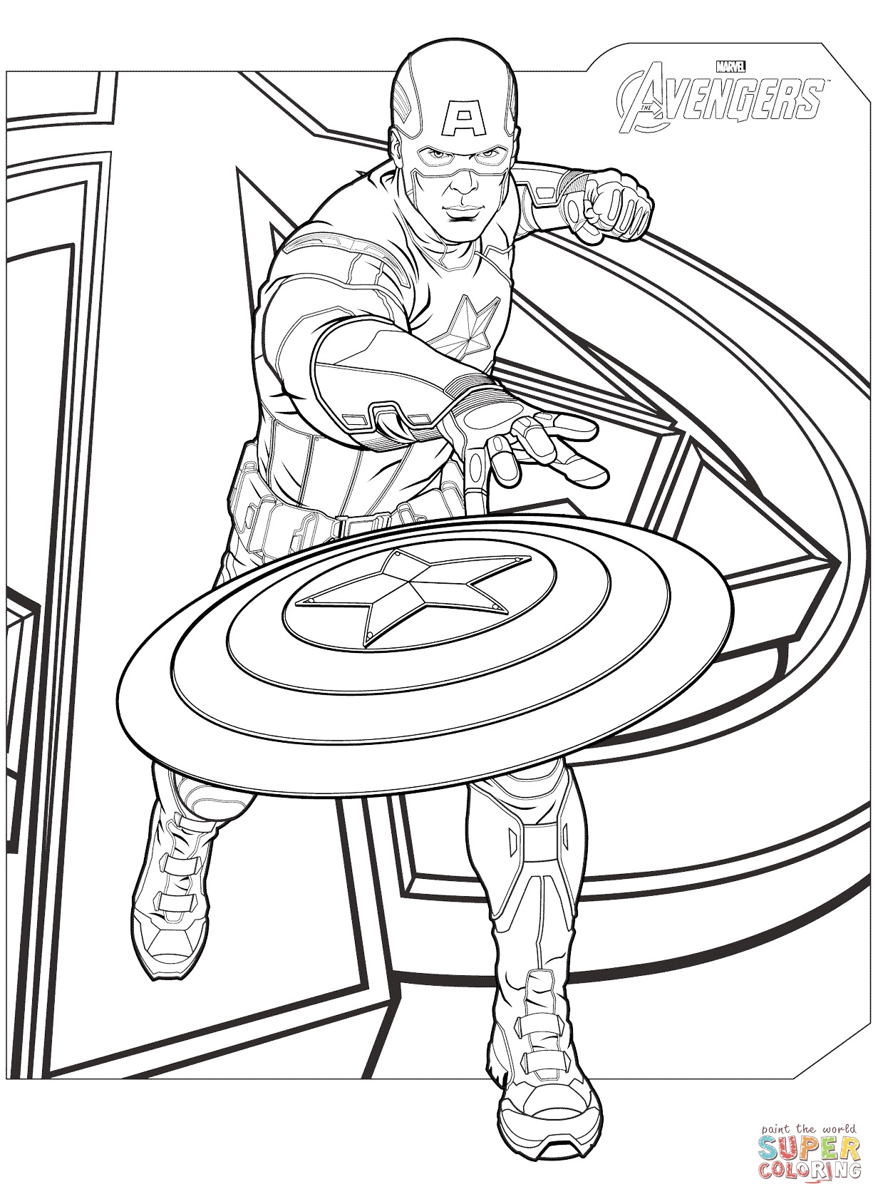 Download Avengers Coloring Pages For Kids at GetDrawings | Free download