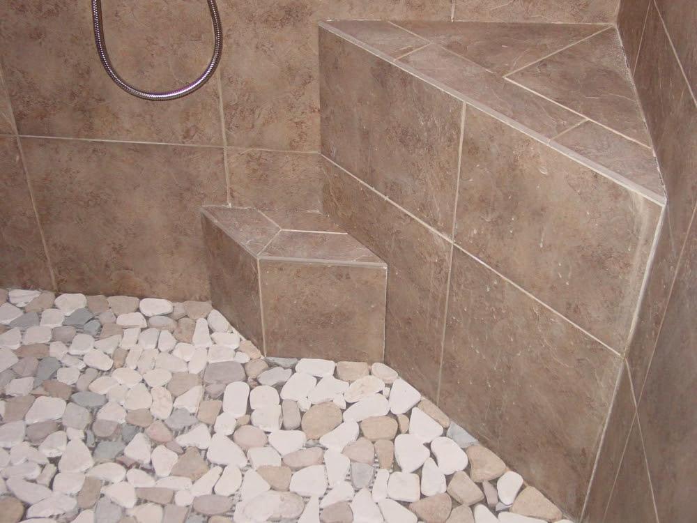 Pebble Shower Floors for Tiled Showers  Howto Install