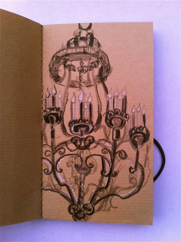peabody chandelier sketch