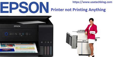 fix epson printer  printing