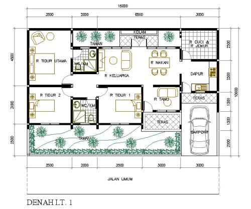 Desain Rumah Minimalis Panjang Ke Samping - Download Wallpaper