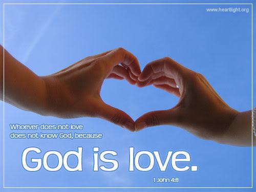Inspirational illustration of 1 John 4:8