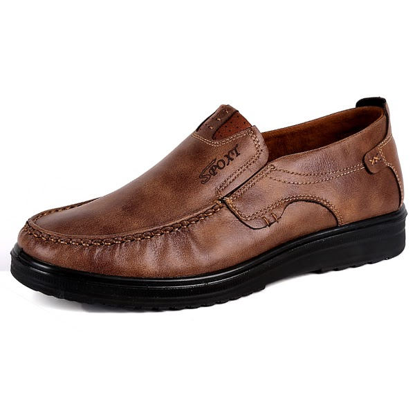 af87e9f1a575 Banggood Leather Shoes Fashion Soft Oxfords  30.99 USD
