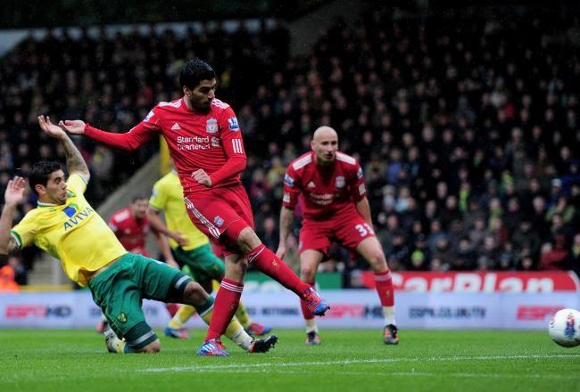 Norwich vs Liverpool 2-5 Goals 2012 Highlights Suarez hat trick Gerrard Sahin Morison Holt Video