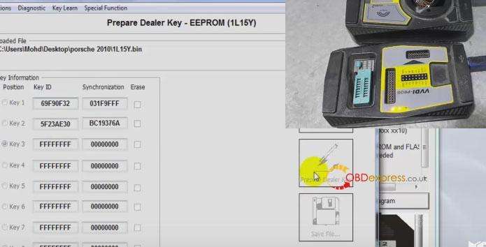 Xhorse Vvdi Porsche Bcm clé de lecture programmation 015