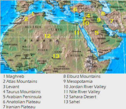physical map of southwest asia and north africa Africa Map Political Map Of North Africa And Southwest Asia physical map of southwest asia and north africa