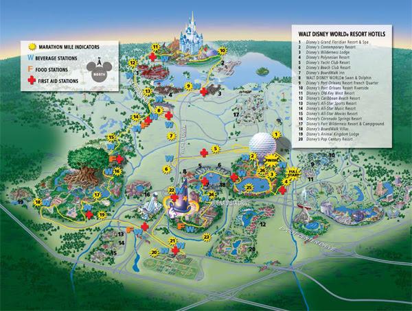 walt disney world magic kingdom map. Walt Disney World Marathon