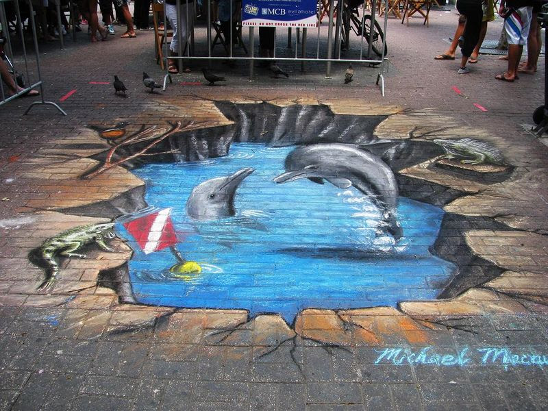 3D Paintings On Streets