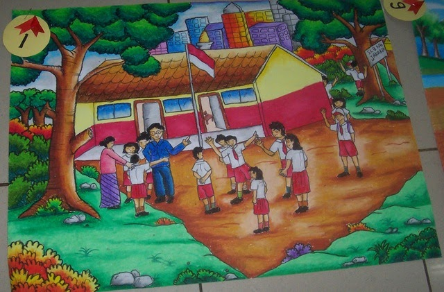 Lukisan Anak Tema Bencana Alam Koleksi Gambar HD