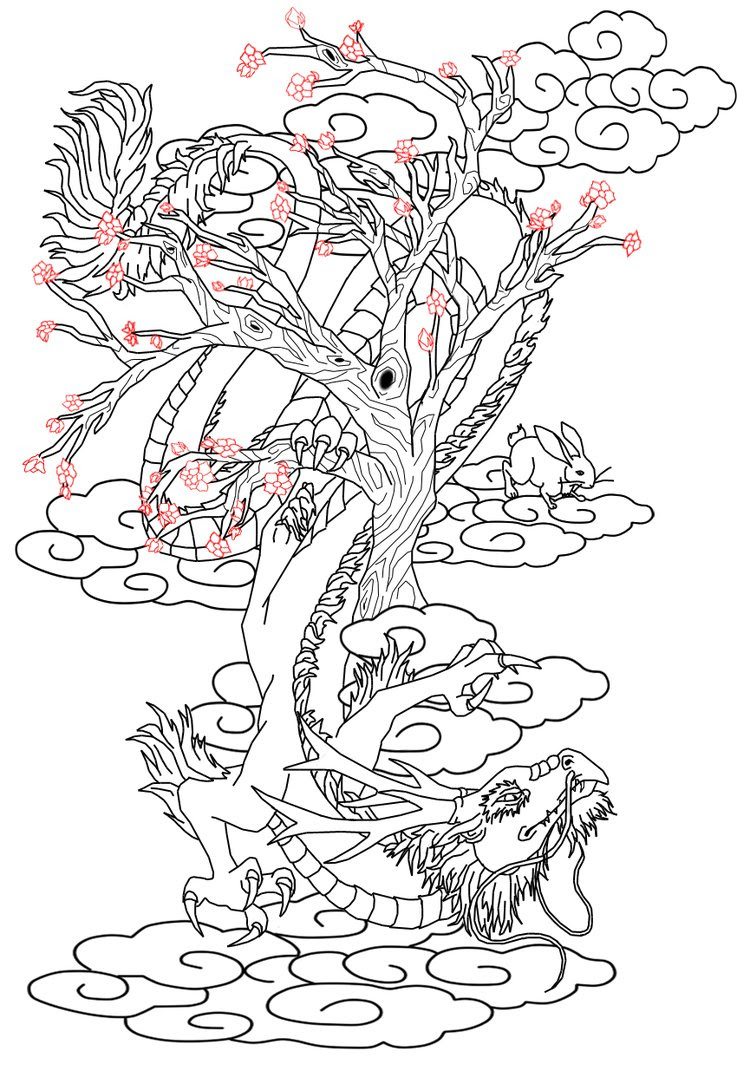 Chinese Cherry Blossom Drawing At Getdrawingscom Free For