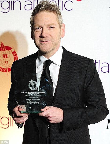 Battling: Kenneth Branagh foi indicado para Melhor Ator Coadjuvante por Minha Semana Com Marilyn enquanto Cristóvão Plummer foi indicado para Iniciantes