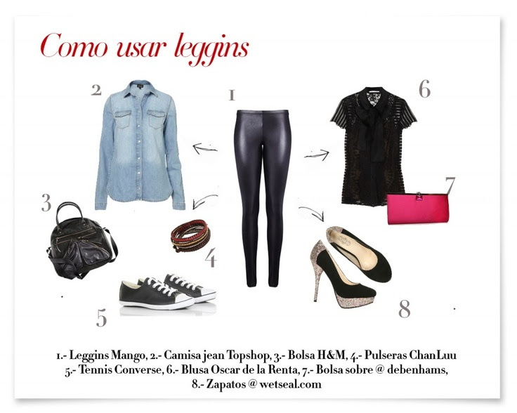 How to wear leggins?/ Cómo usar leggins?  www.creandotuestilo.com