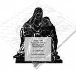 Jesus in the arms of Mary Magdalene Yard Art Woodworking Pattern - fee plans from WoodworkersWorkshop® Online Store - Jesus,Mary Magdalene,religion,religious,yard art,painting wood crafts,scrollsawing patterns,drawings,plywood,plywoodworking plans,woodworkers projects,workshop blueprints
