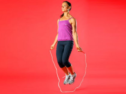 3. Lower body cardio: skipping