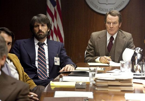Ben Affleck and Bryan Cranston (who plays CIA supervisor Jack O'Donnell) in ARGO.