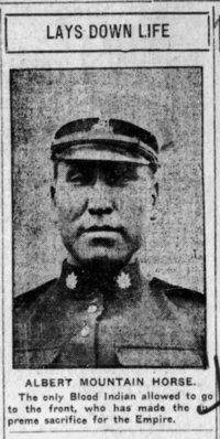 EN:UNDEF:public_image_official_caption Albert Mountain Horse. From the Calgary Herald, Calgary, Alberta, Canada, 25 Nov 1915, p5.