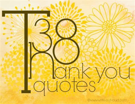 Thank you quotes for speeches or notes