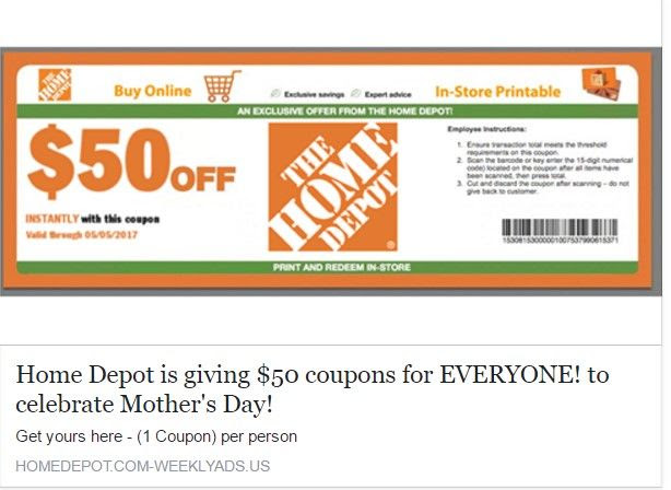 Home Depot Promo Code Home Decor