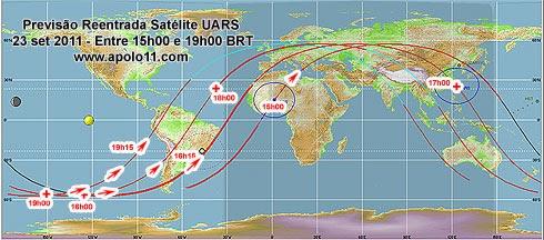 Satélite desgovernado: lixo espacial pode cair no Brasil