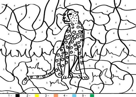 coloring  number code coloring pages  animals
