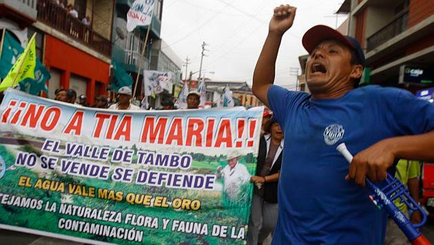 Los sindicalistas marcharán para protestar contra Tía María. (Heiner Aparicio)