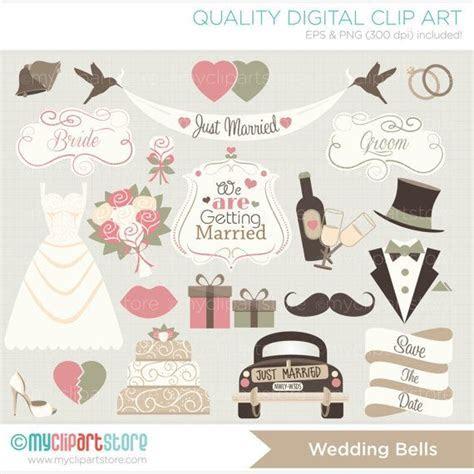 Just Married / Wedding Clip Art / Digital by