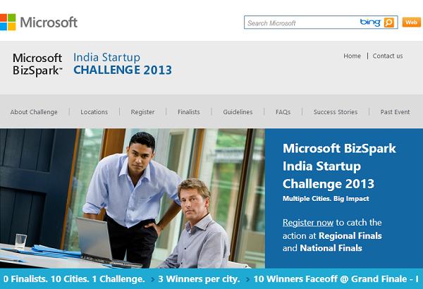 Microsoft BizSpark challenge BizSpark India Startup Challenge 2013 Regional Rounds Start Tomorrow