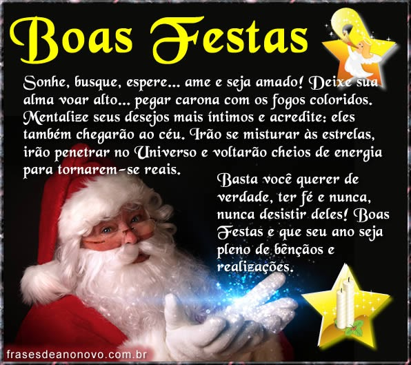 VOTOS DE BOAS FESTAS & FELIZ ANO NOVO!...