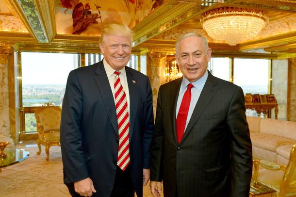 Donald Trump durante encontro em Nova York com primeiro-ministro Benjamin Netanyahu em setembro de 2016