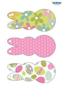 Free Printable Easter Bunny Bunting   Creative Center