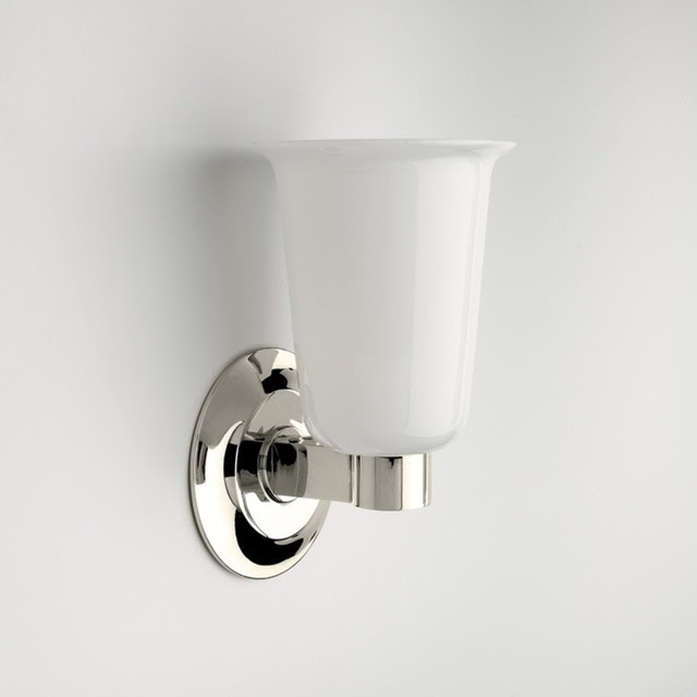 Butler Wall Mounted Single Arm Sconce with White Glass Shade ...