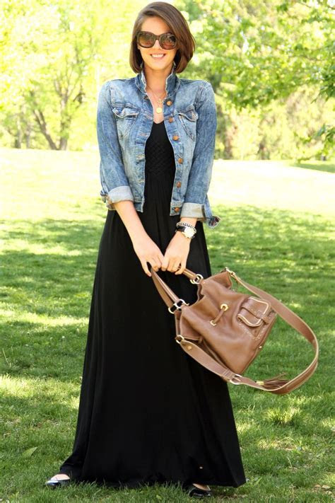 What I Wore: Long Black Dress   Denim jackets, Style and