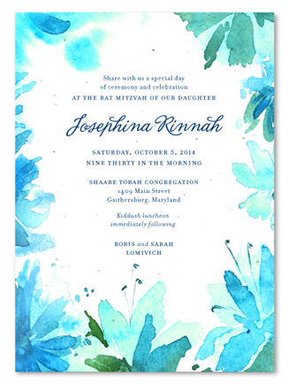 Botanical Blooms Invitations